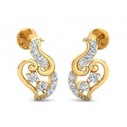 Shop Gini gold earrings online - Jewelslane