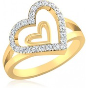 Xclusiveoffer Valentine day Heart shaped Diamond Ring for Lovers