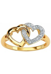 Fashionothon Classic valentine Lover Pure Gold Diamond Ring