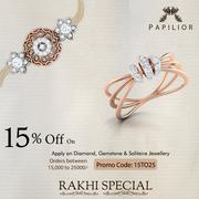 Raksha Bandhan Deals on Papilior,  Rakhi Offer – Flat 15% off