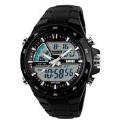 Buy Skmei 1016 Black Dual Time Alarm Chronograph Water Resistance 50m