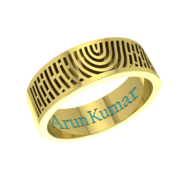 Personalized fingerprint ring