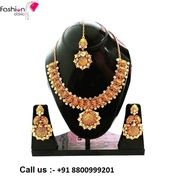 Gold Plated Perfect Intricate Necklace at Affordable Price