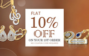 Flat 10% Off on Your 1st Jewellery Order - Jewelslane